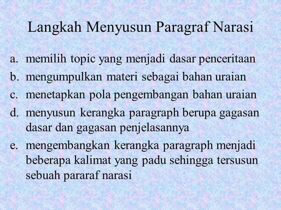 Langkah Menyusun Paragraf Narasi