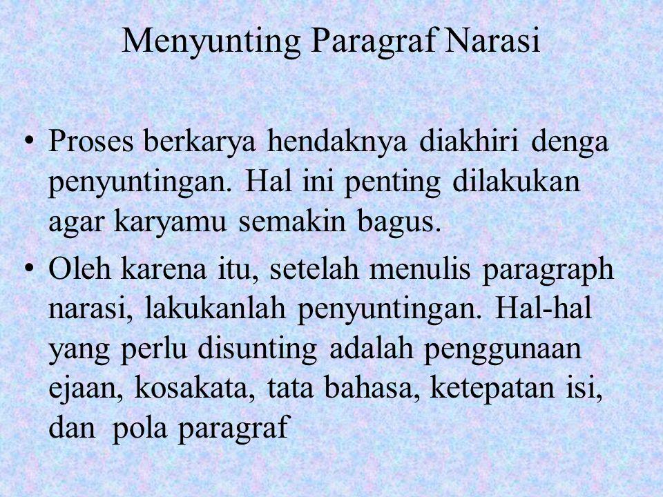 Menyunting Paragraf Narasi