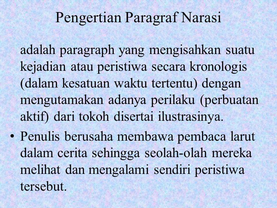 Pengertian Paragraf Narasi