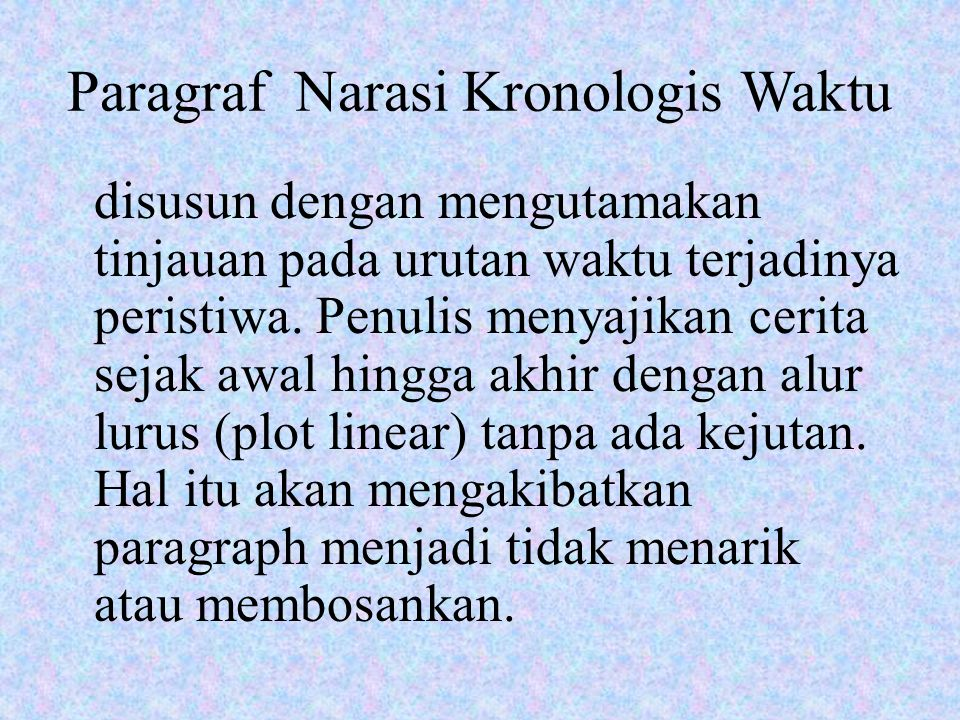 Paragraf Narasi Kronologis Waktu