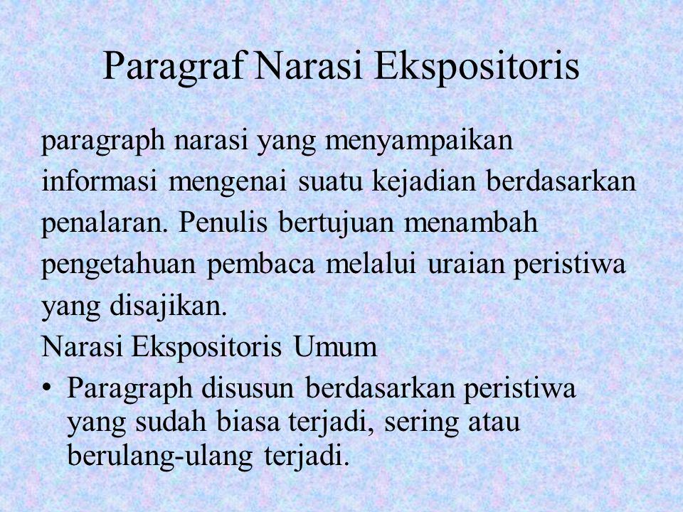 Paragraf Narasi Ekspositoris