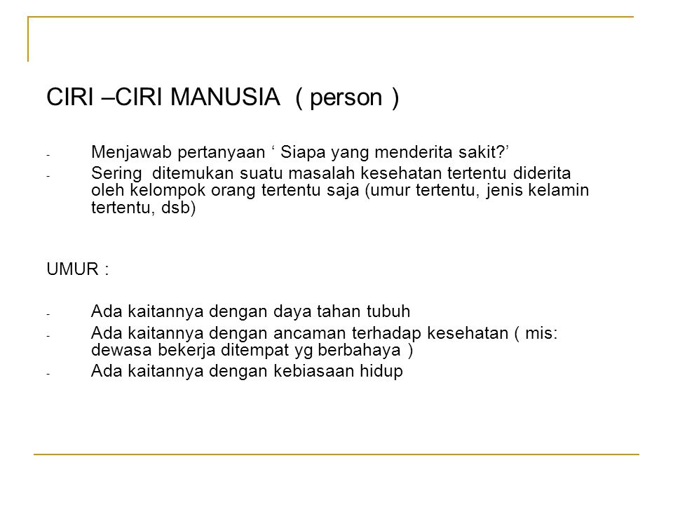 CIRI –CIRI MANUSIA ( person )