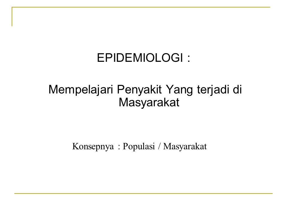 Mempelajari Penyakit Yang terjadi di Masyarakat