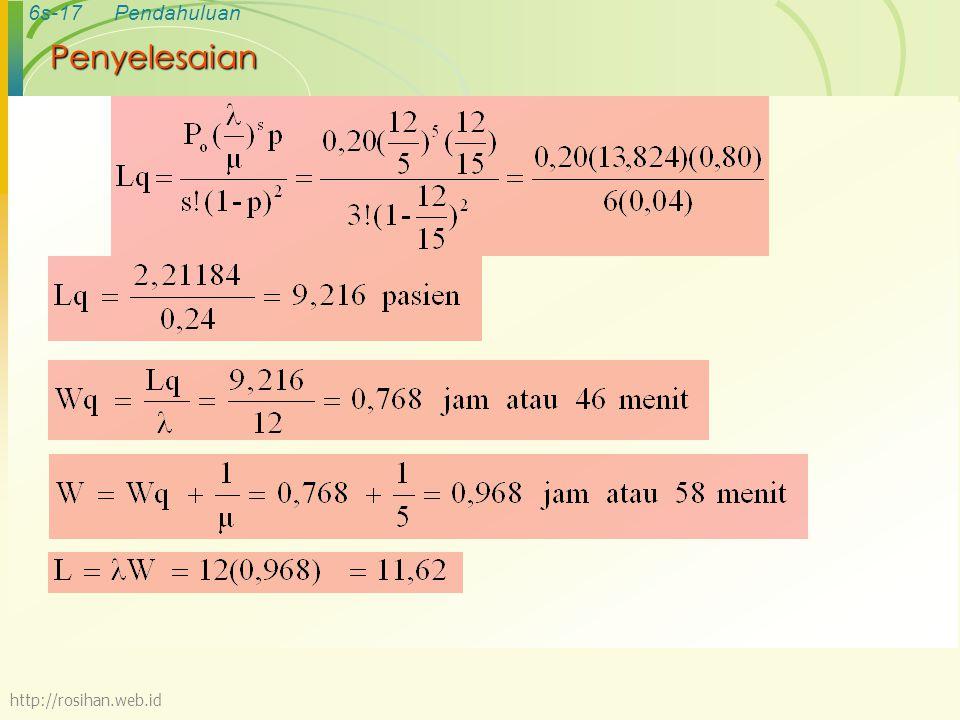 Penyelesaian http://rosihan.web.id