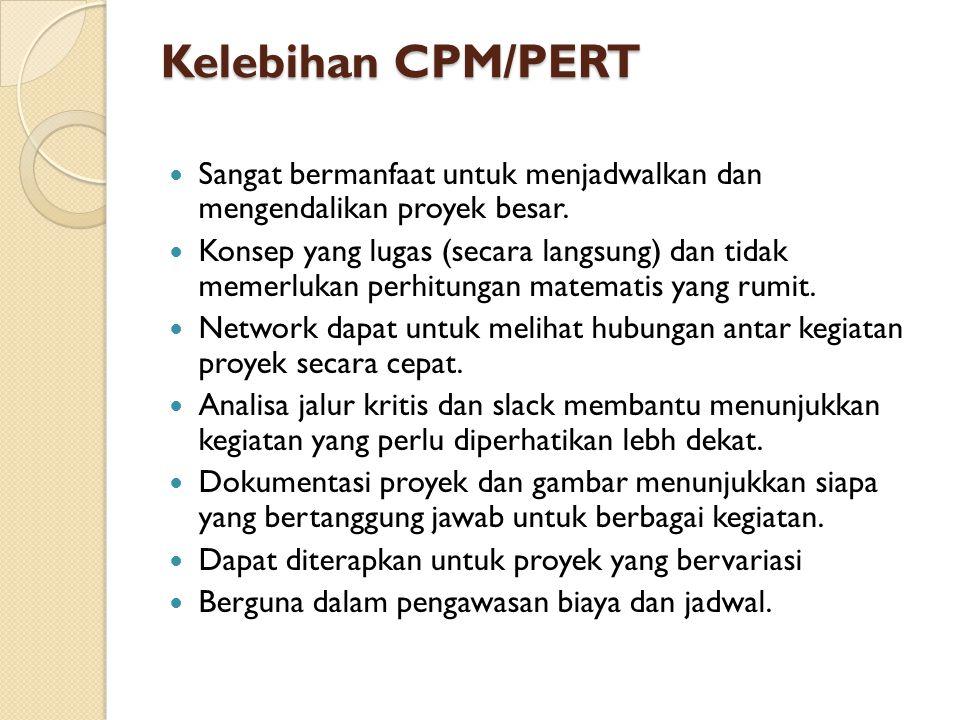Cpm dan pert ppt download 41 kelebihan cpmpert ccuart Image collections