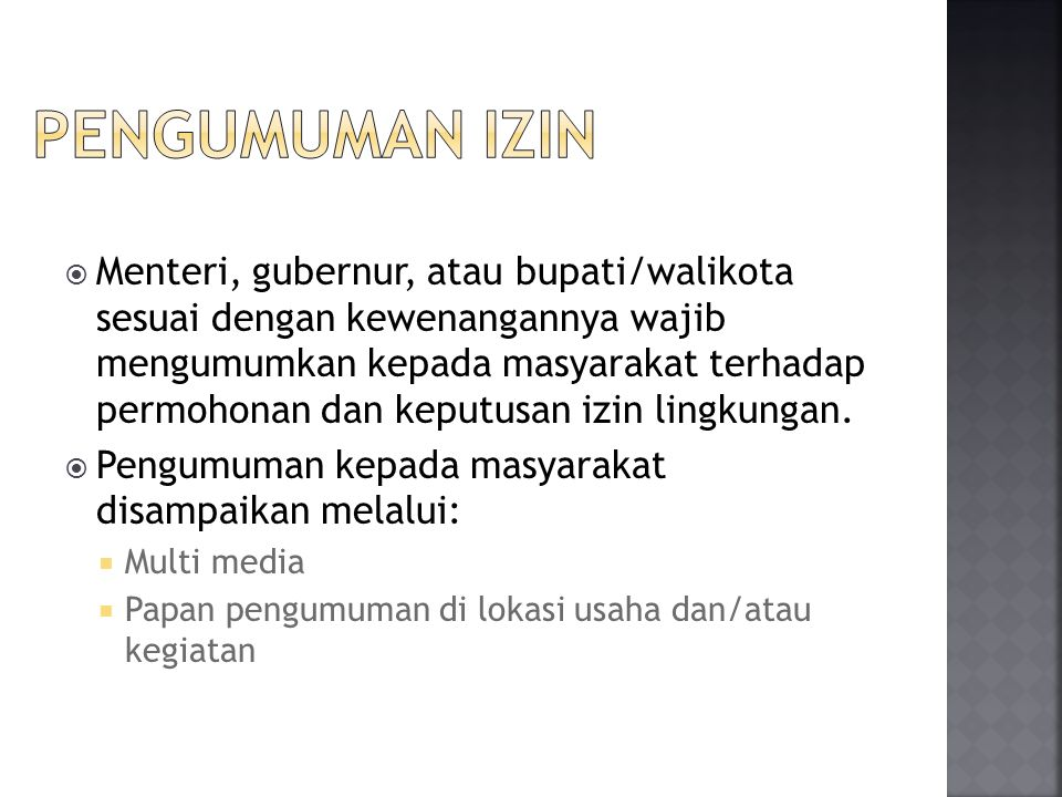 PENGUMUMAN IZIN