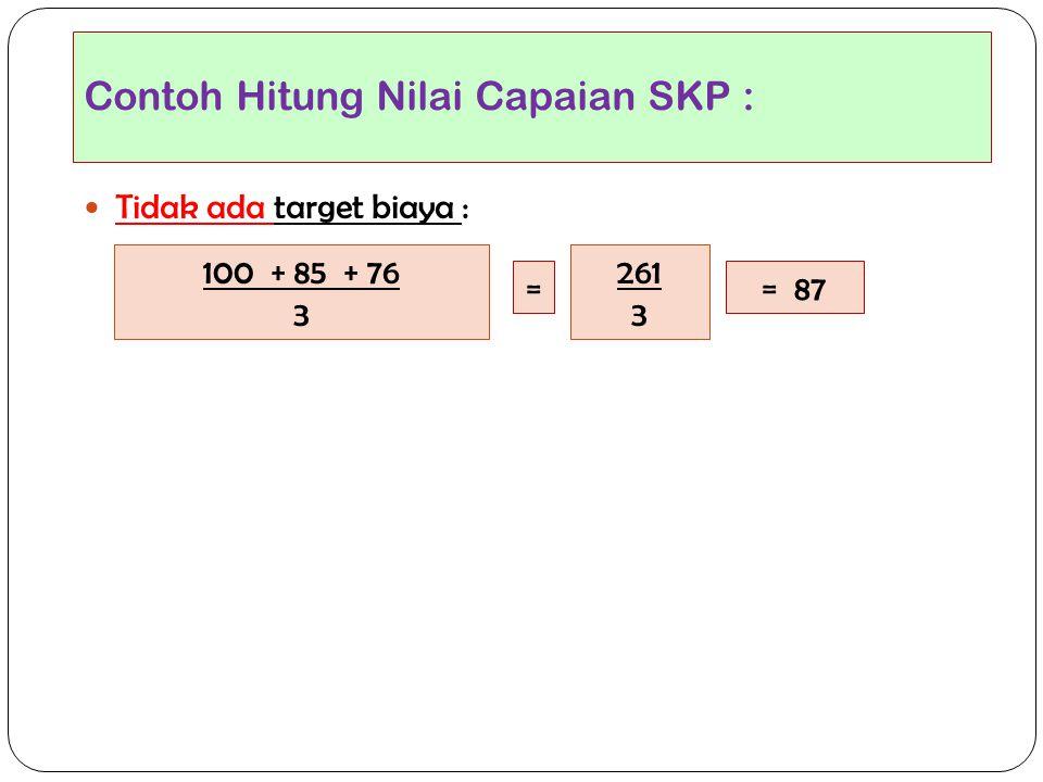 Contoh Hitung Nilai Capaian SKP :
