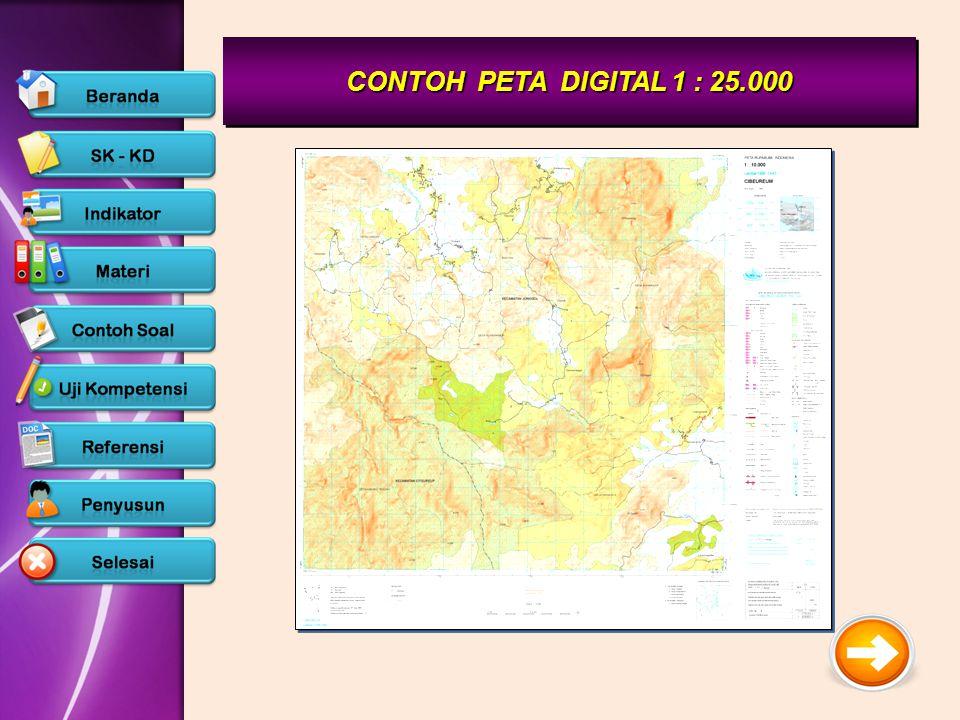 CONTOH PETA DIGITAL 1 : 25.000