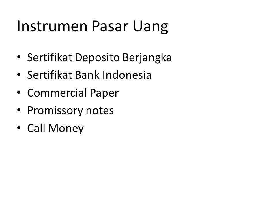 Instrumen Pasar Uang Sertifikat Deposito Berjangka