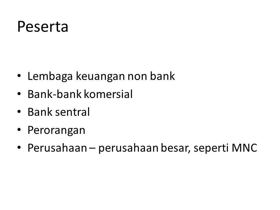 Peserta Lembaga keuangan non bank Bank-bank komersial Bank sentral