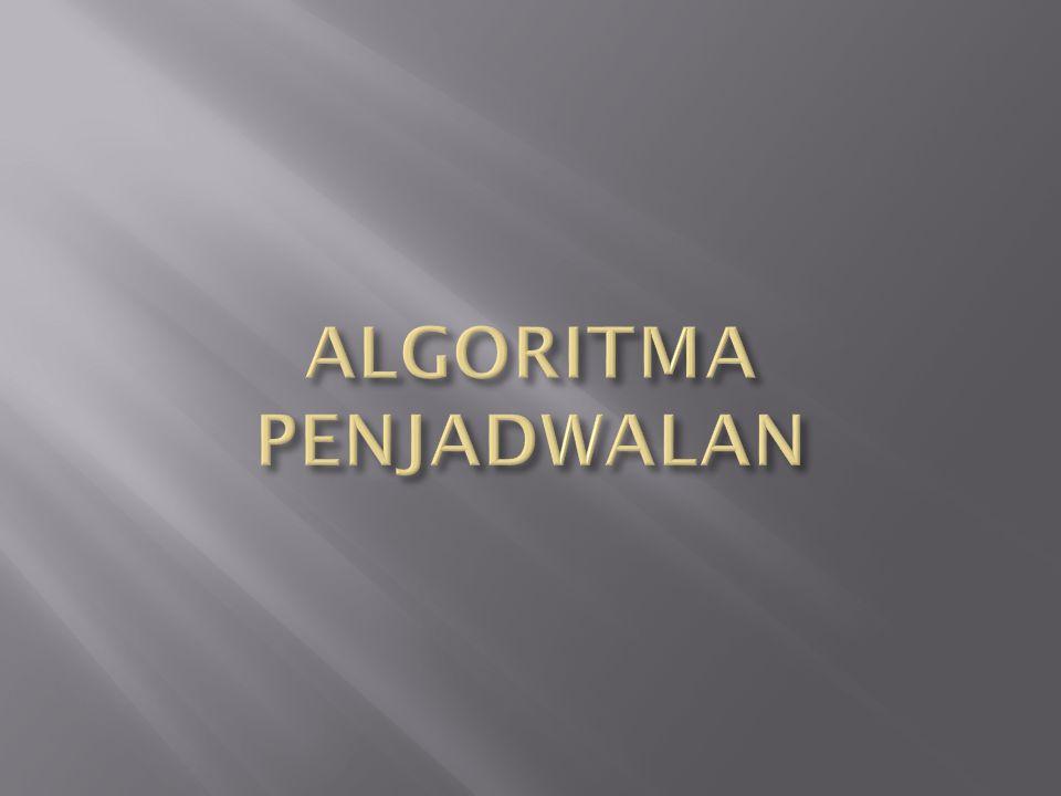 ALGORITMA PENJADWALAN