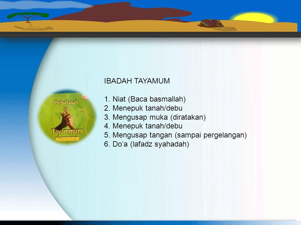IBADAH TAYAMUM