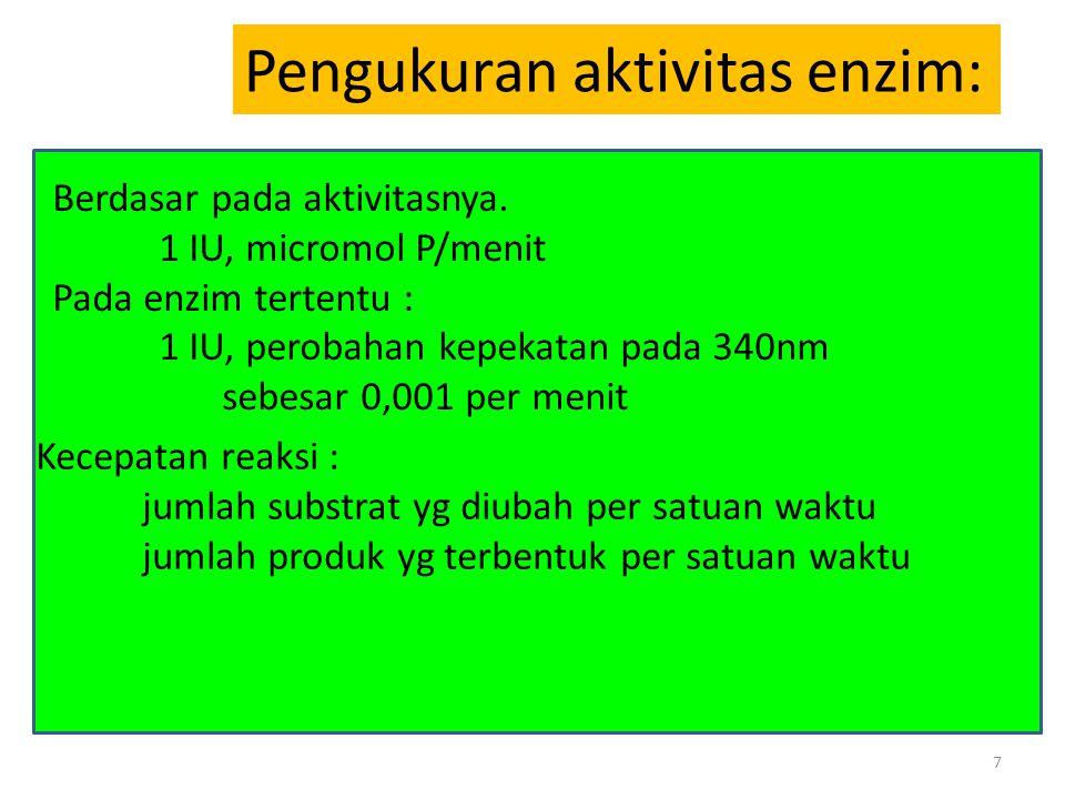 Pengukuran aktivitas enzim: