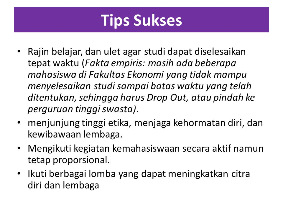 Tips Sukses