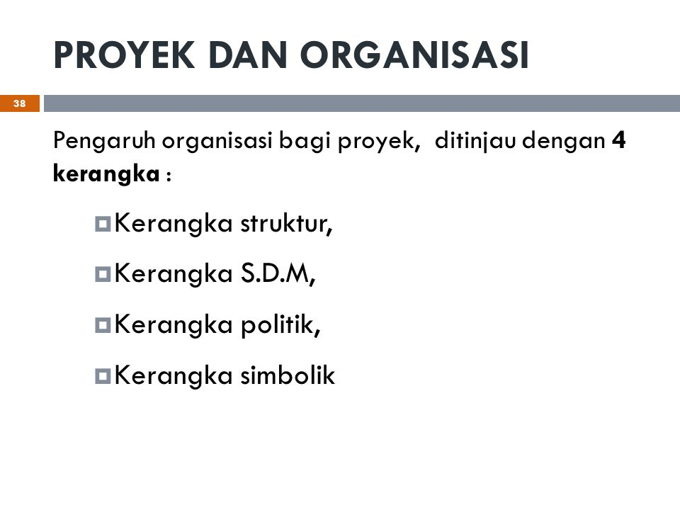 PROYEK DAN ORGANISASI Kerangka struktur, Kerangka S.D.M,