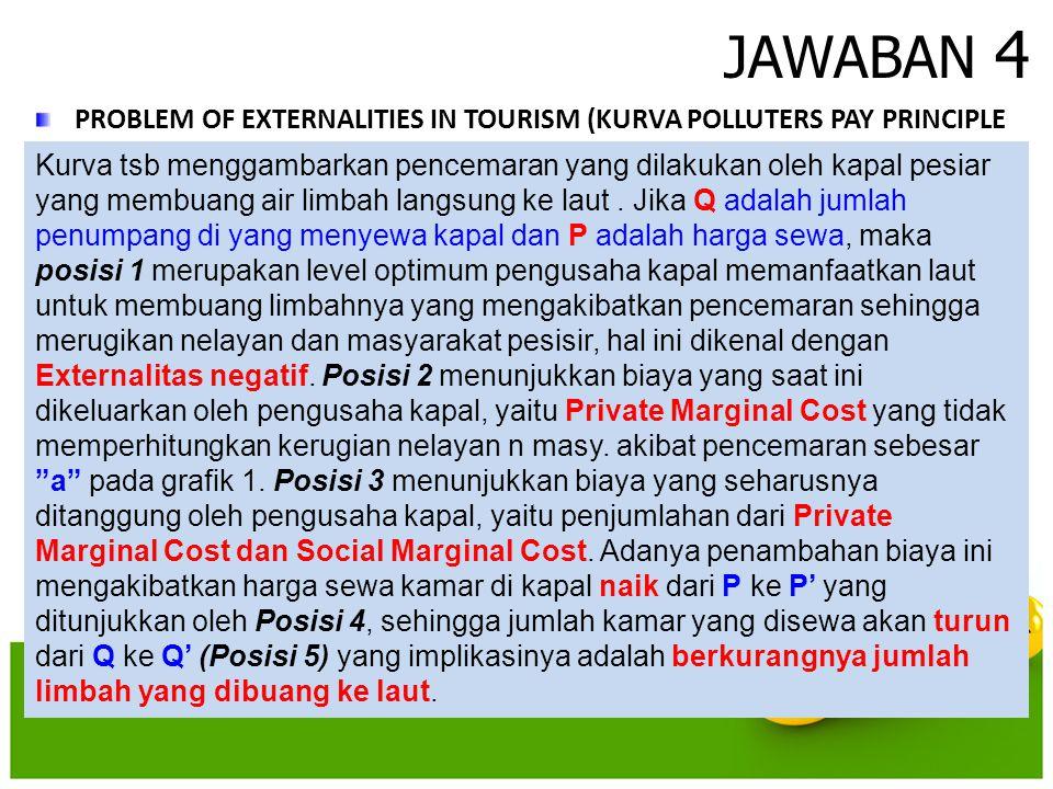 JAWABAN 4 PROBLEM OF EXTERNALITIES IN TOURISM (KURVA POLLUTERS PAY PRINCIPLE.
