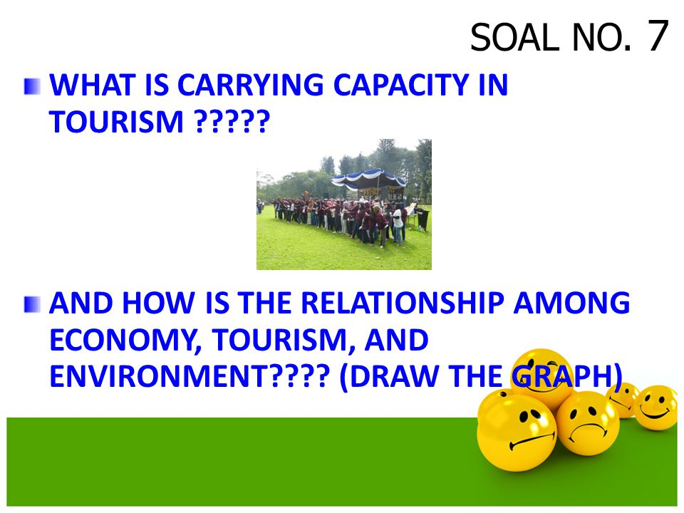 SOAL NO. 7 WHAT IS CARRYING CAPACITY IN TOURISM