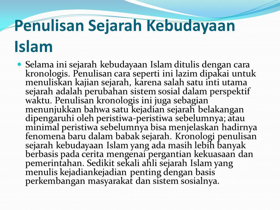 Penulisan Sejarah Kebudayaan Islam