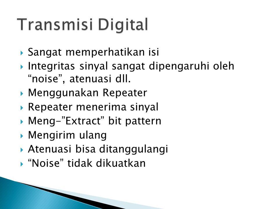 Transmisi Digital Sangat memperhatikan isi