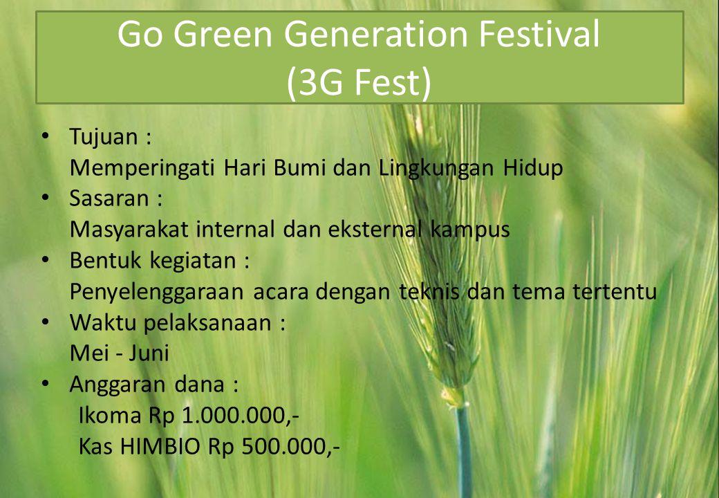 Go Green Generation Festival (3G Fest)