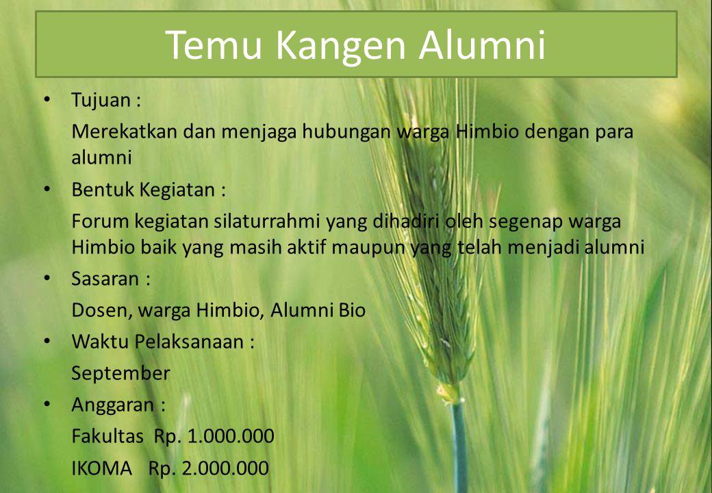 Temu Kangen Alumni Tujuan :