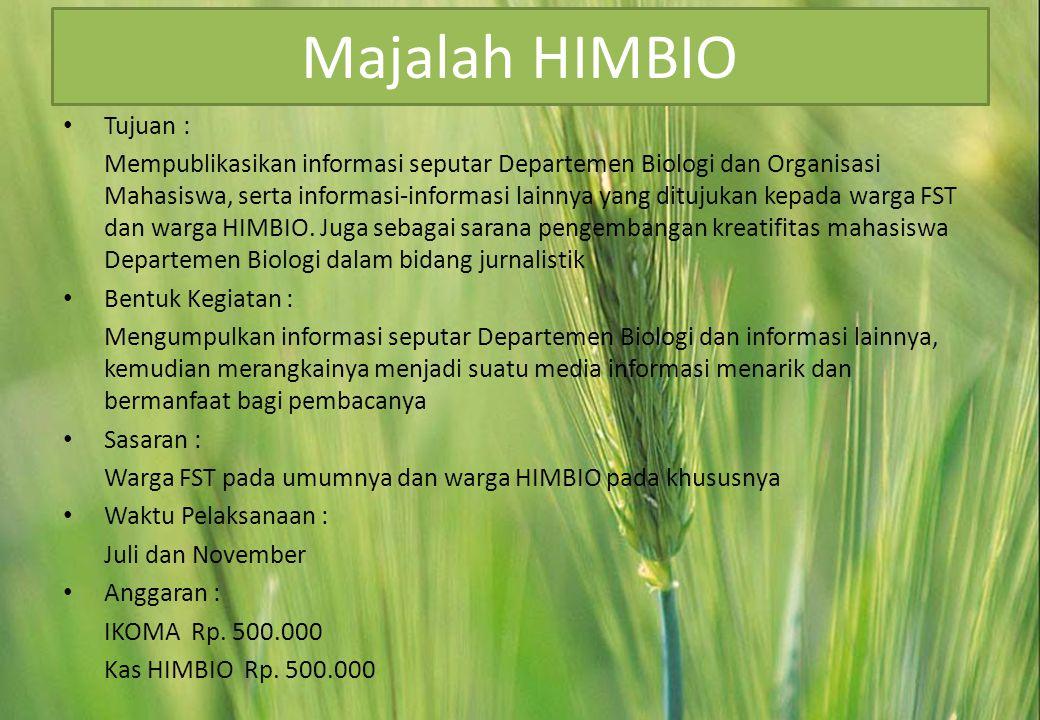 Majalah HIMBIO Tujuan :