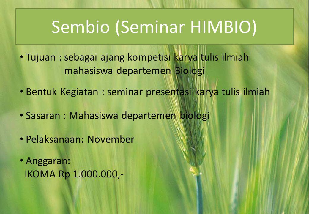 Sembio (Seminar HIMBIO)