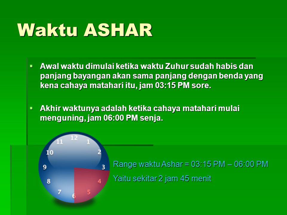 Waktu ASHAR
