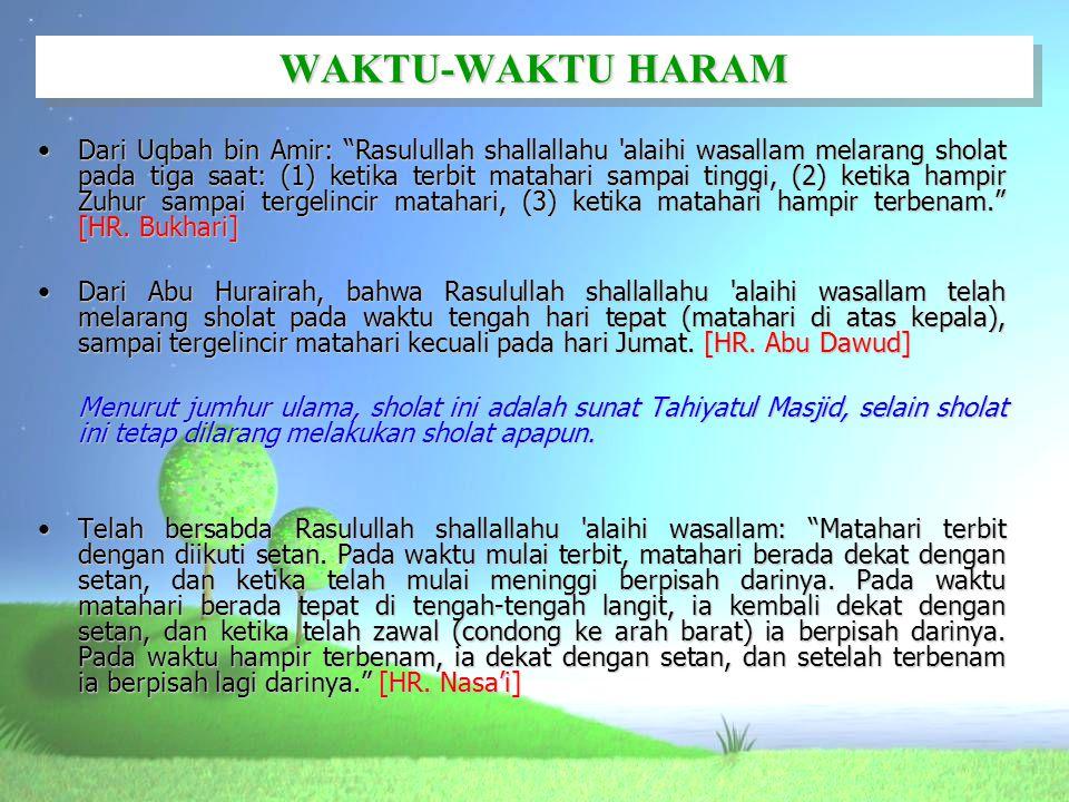 WAKTU-WAKTU HARAM