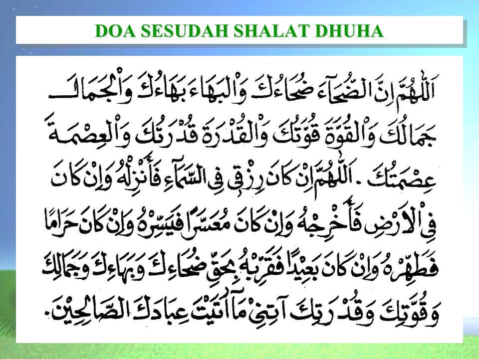 DOA SESUDAH SHALAT DHUHA