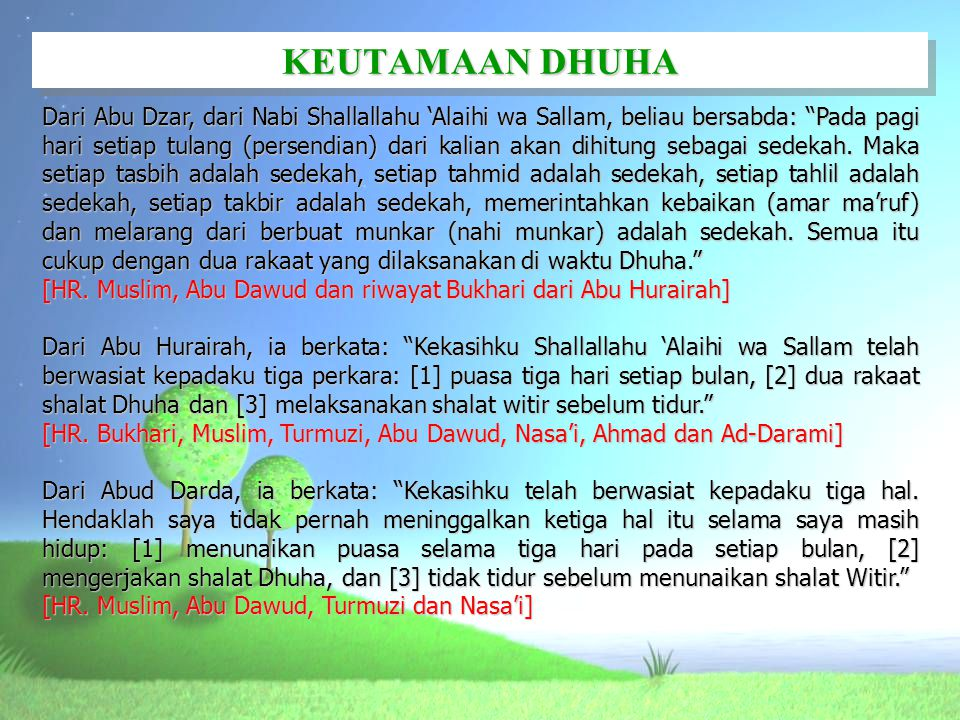 KEUTAMAAN DHUHA