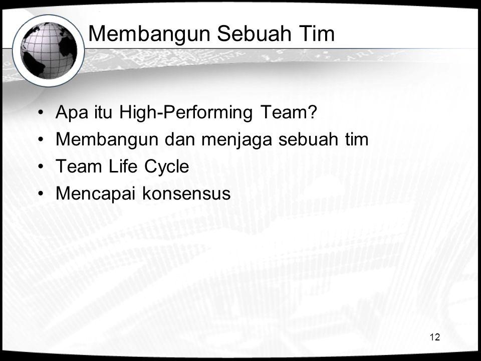 Membangun Sebuah Tim Apa itu High-Performing Team