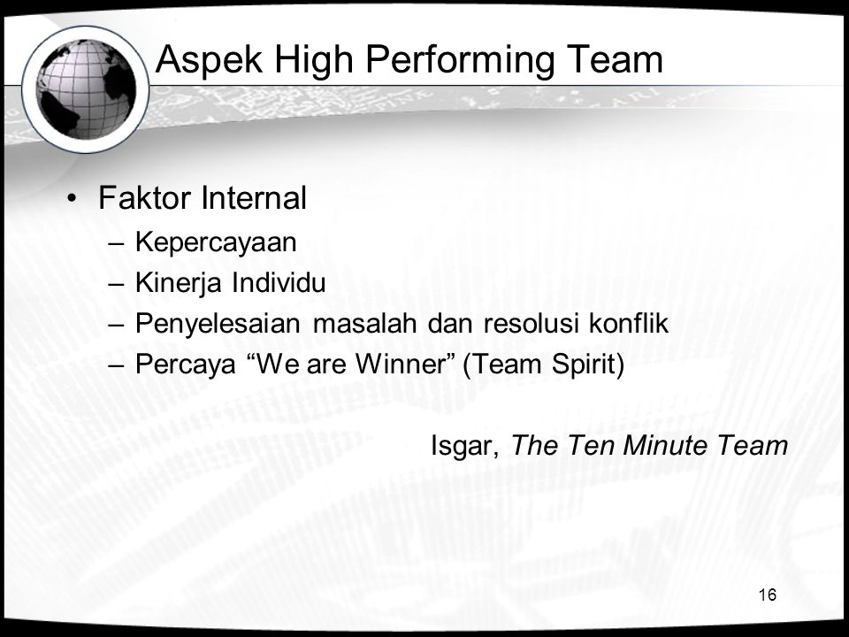 Aspek High Performing Team