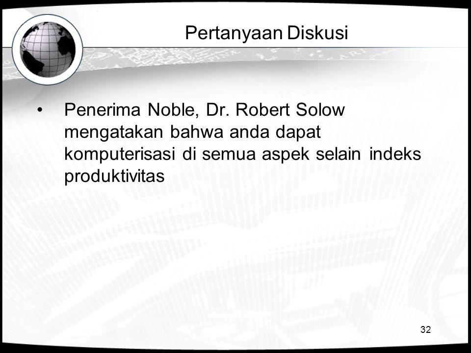Pertanyaan Diskusi Penerima Noble, Dr.
