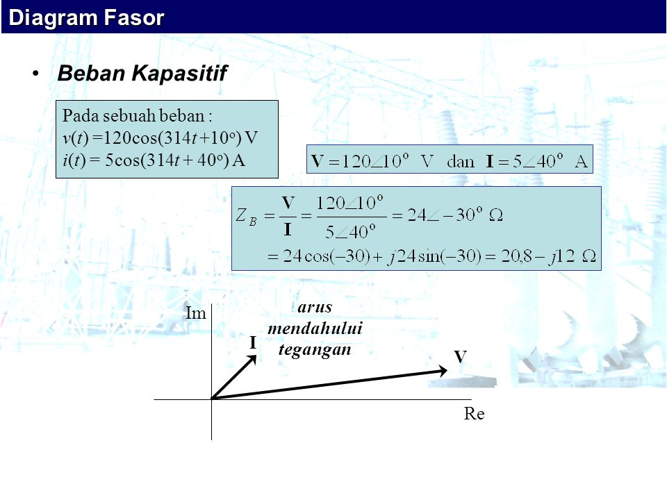 Diagram Fasor Beban Kapasitif