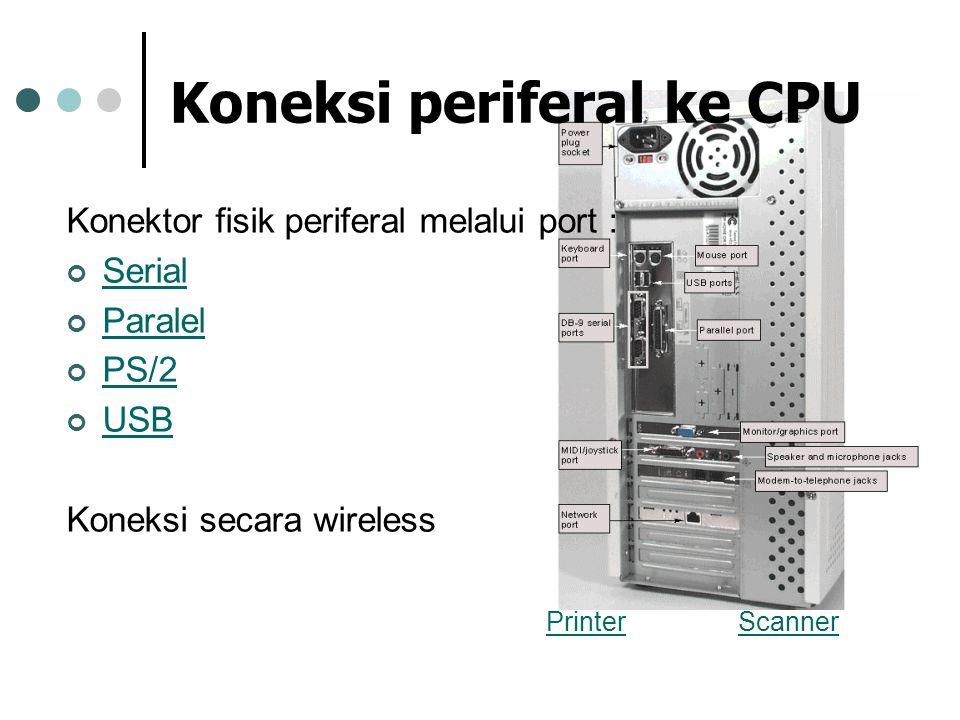 Koneksi periferal ke CPU