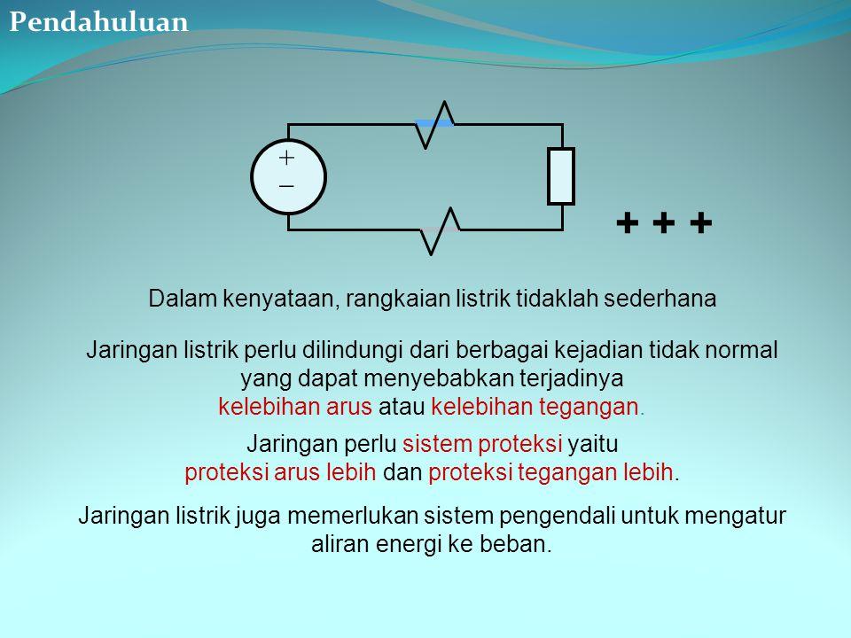 Pendahuluan +  + + + Dalam kenyataan, rangkaian listrik tidaklah sederhana.