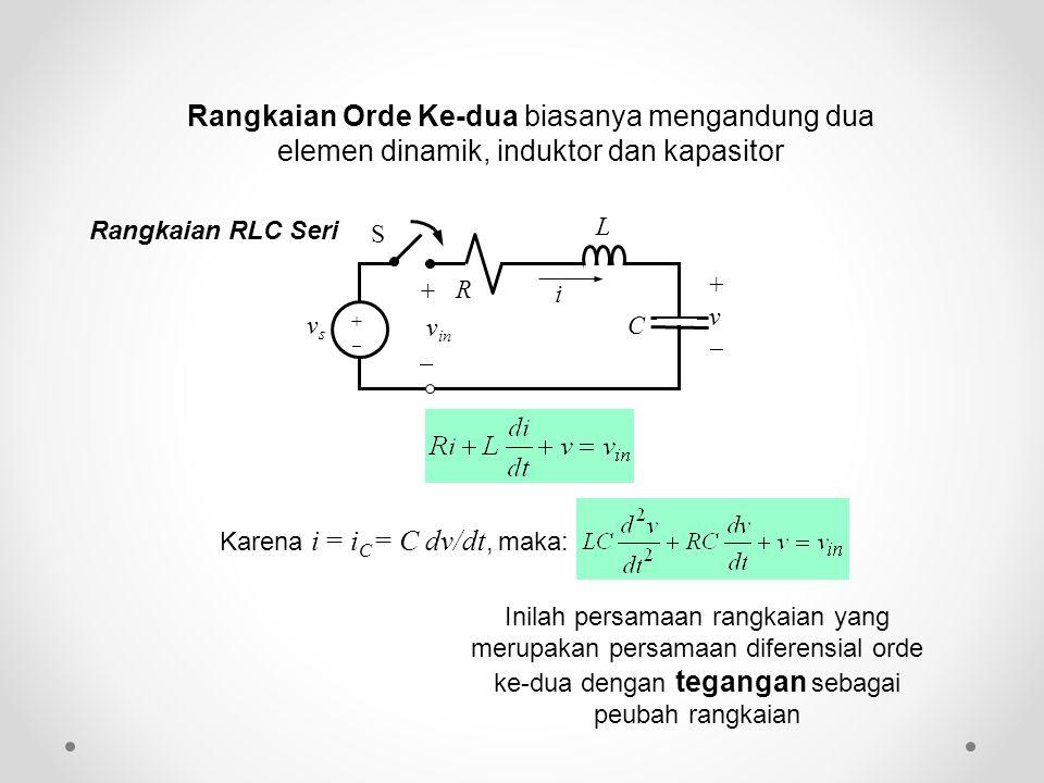 Rangkaian Orde Ke-dua biasanya mengandung dua elemen dinamik, induktor dan kapasitor