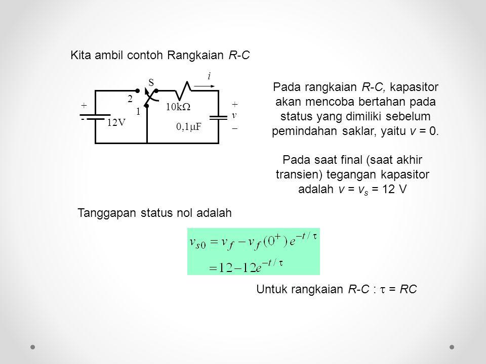 Kita ambil contoh Rangkaian R-C