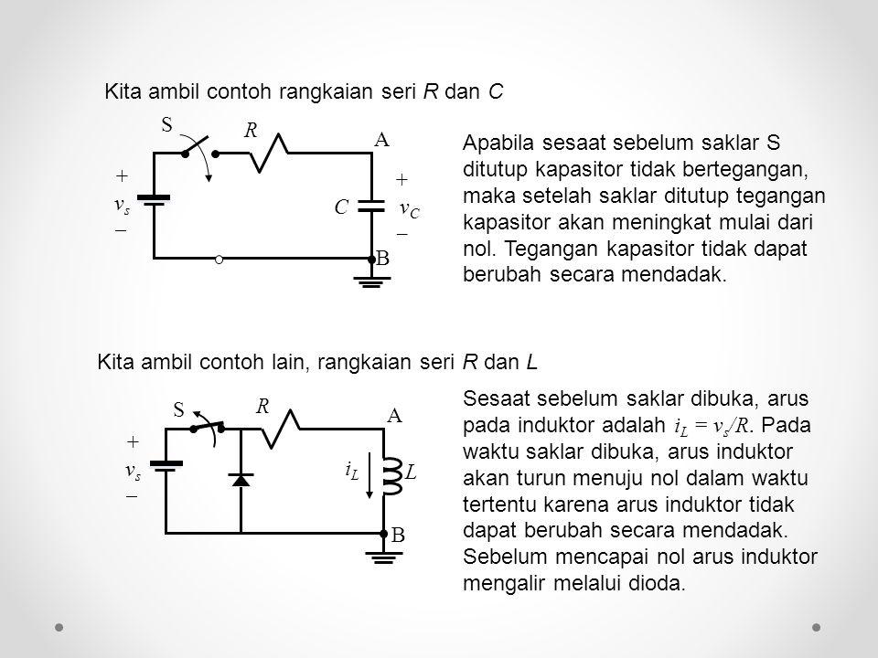 Kita ambil contoh rangkaian seri R dan C
