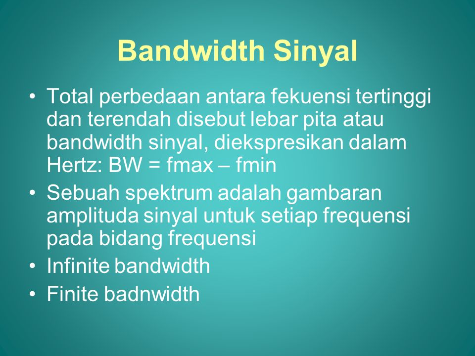 Bandwidth Sinyal