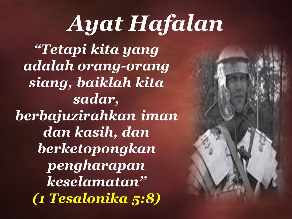 pengharapan keselamatan (1 Tesalonika 5:8)