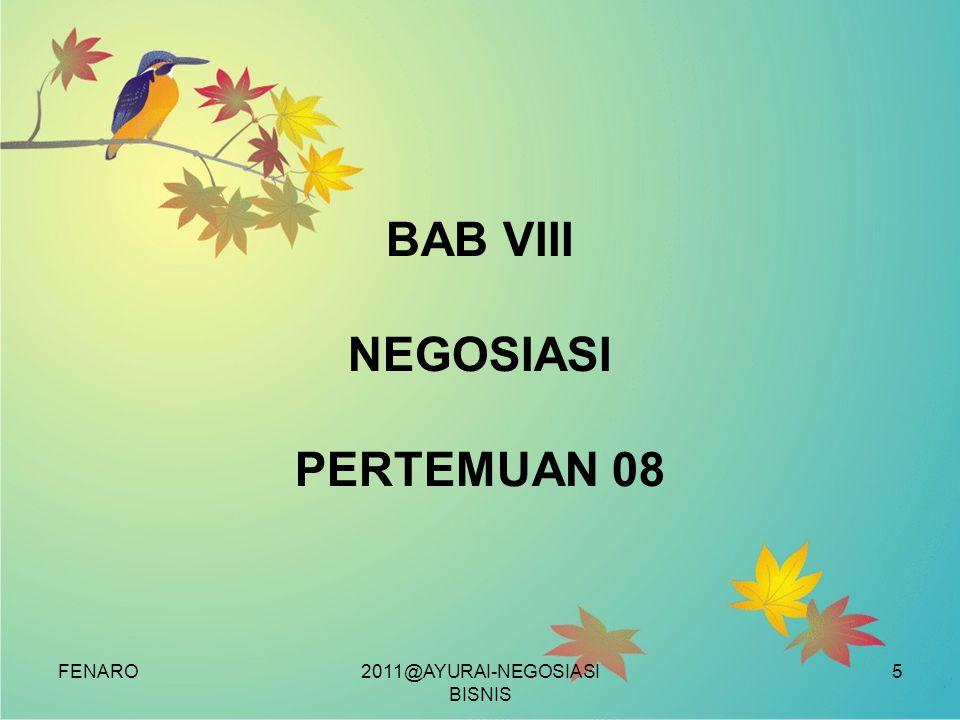 BAB VIII NEGOSIASI PERTEMUAN 08