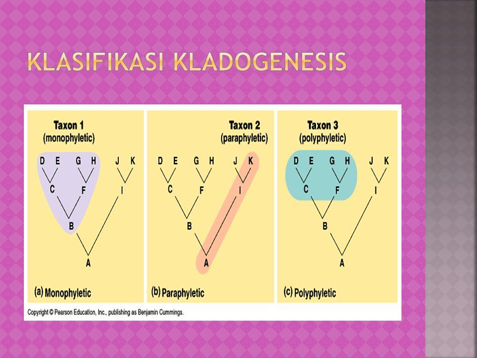 Klasifikasi kladogenesis