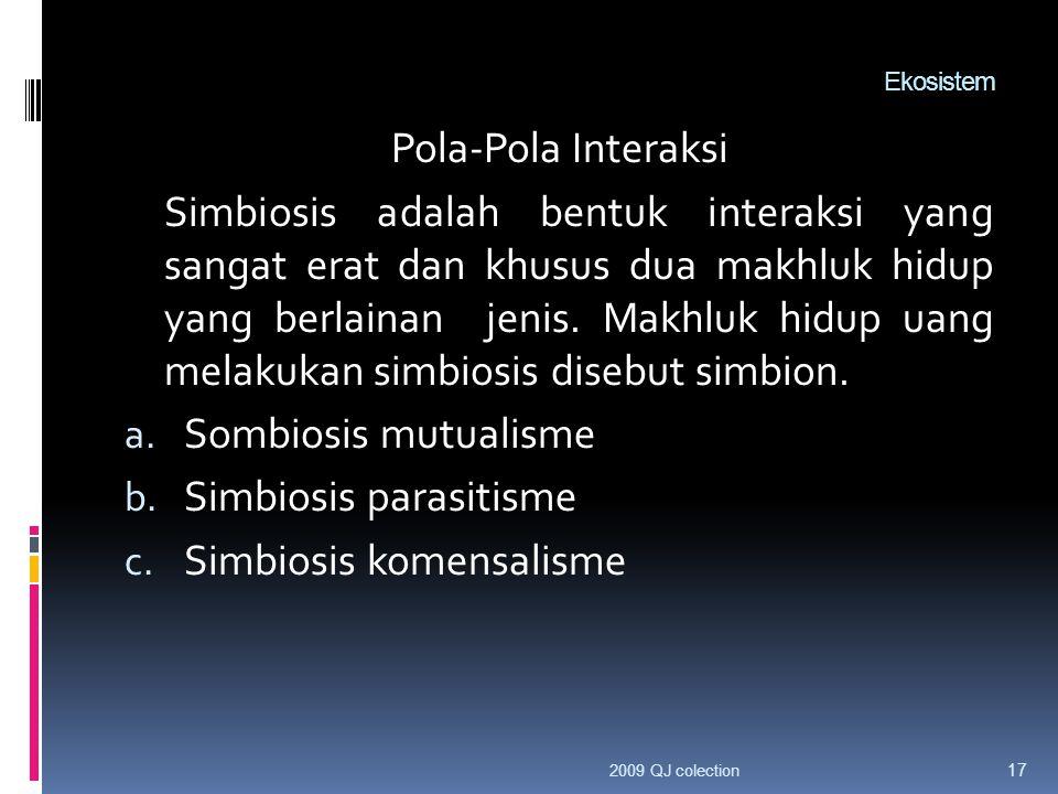 Simbiosis parasitisme Simbiosis komensalisme