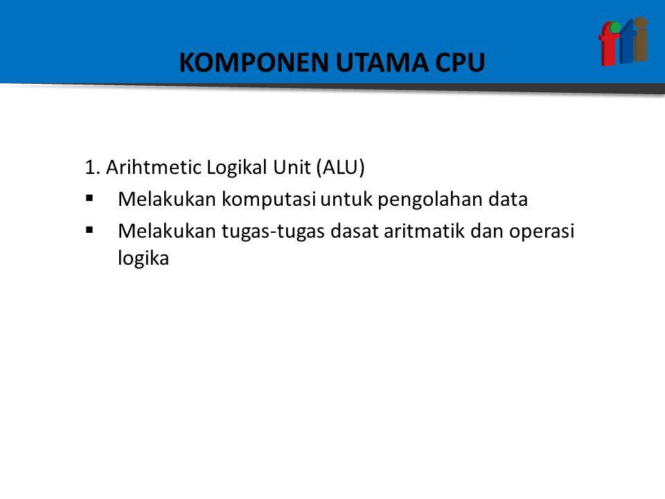 KOMPONEN UTAMA CPU 1. Arihtmetic Logikal Unit (ALU)