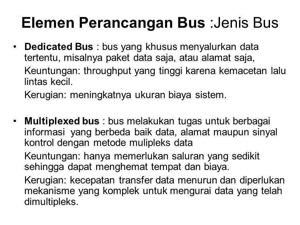 Elemen Perancangan Bus :Jenis Bus