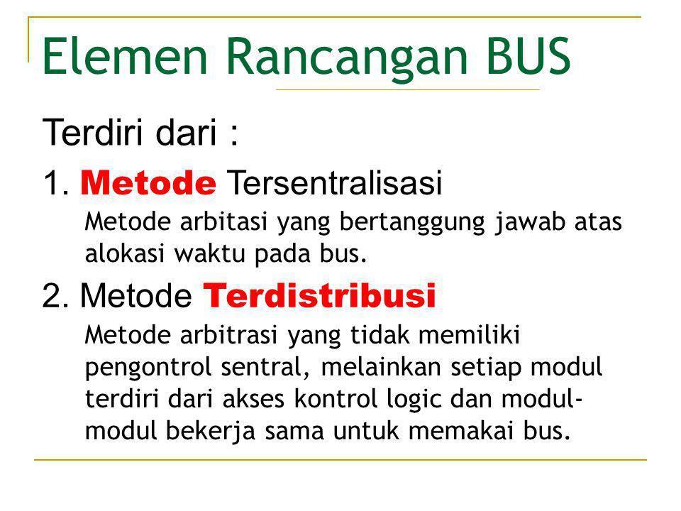 Elemen Rancangan BUS Terdiri dari : Metode Tersentralisasi