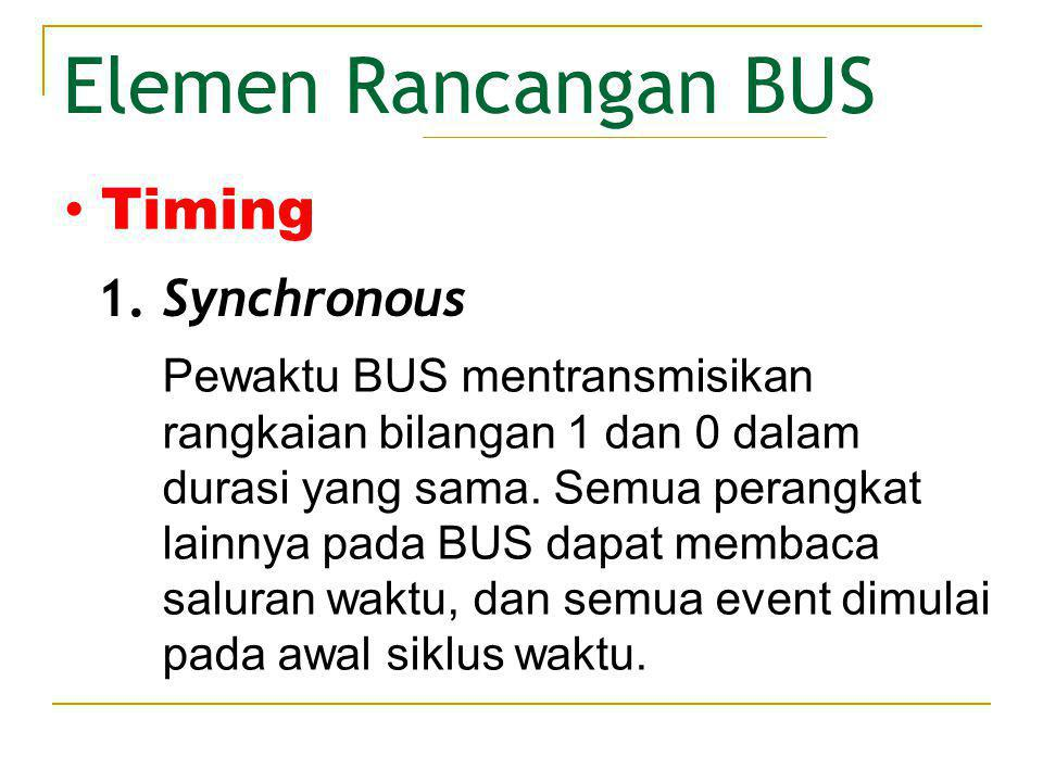 Elemen Rancangan BUS Timing Synchronous