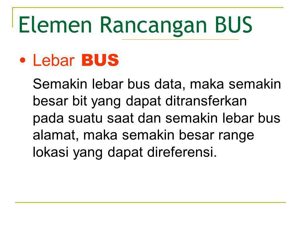 Elemen Rancangan BUS Lebar BUS